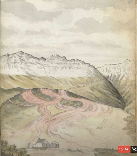 Hottentot's Holland Mountains and pass and the Rooi, Robert Jacob Gordon, 1779
